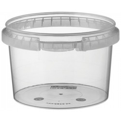 pot en plastique rond transparent cristal 480 ml