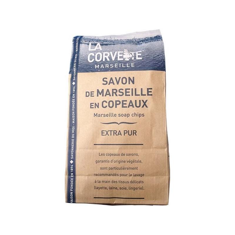 sachet de copeaux de savon de marseille la corvette 750 g. Black Bedroom Furniture Sets. Home Design Ideas