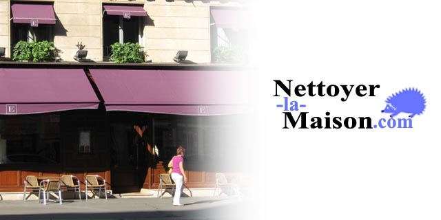 Nettoyer la toile de store de son magasin ou restaurant